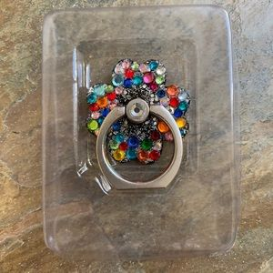 NWT Flower Bling Ring Hook/Kickstand For Cell …
